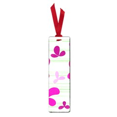 Magenta floral pattern Small Book Marks