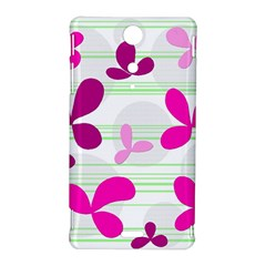 Magenta floral pattern Sony Xperia TX