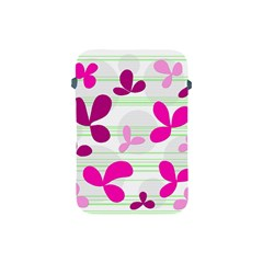 Magenta floral pattern Apple iPad Mini Protective Soft Cases