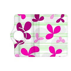 Magenta floral pattern Kindle Fire HD (2013) Flip 360 Case