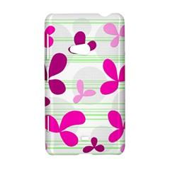 Magenta floral pattern Nokia Lumia 625