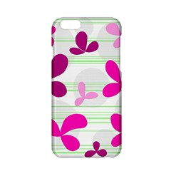 Magenta floral pattern Apple iPhone 6/6S Hardshell Case