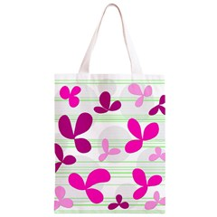 Magenta floral pattern Classic Light Tote Bag