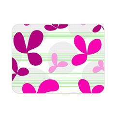 Magenta floral pattern Double Sided Flano Blanket (Mini)