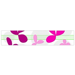 Magenta floral pattern Flano Scarf (Small)
