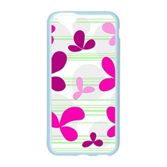 Magenta floral pattern Apple Seamless iPhone 6/6S Case (Color)