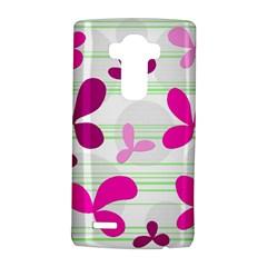 Magenta floral pattern LG G4 Hardshell Case