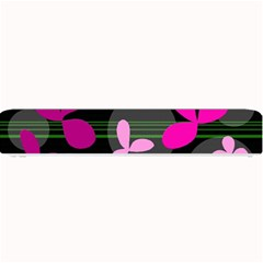 Magenta floral design Small Bar Mats