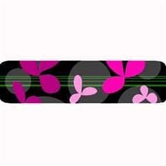 Magenta floral design Large Bar Mats