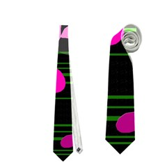 Magenta floral design Neckties (Two Side)