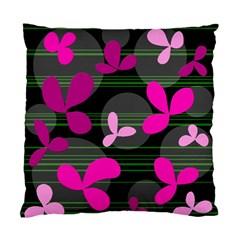 Magenta floral design Standard Cushion Case (One Side)
