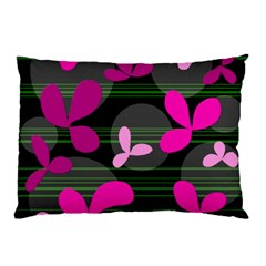 Magenta floral design Pillow Case