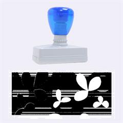 Magenta floral design Rubber Stamps (Large)