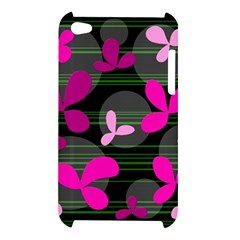 Magenta floral design Apple iPod Touch 4