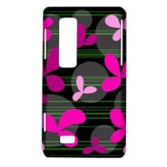 Magenta floral design LG Optimus Thrill 4G P925