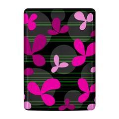 Magenta floral design Kindle 4