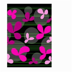 Magenta floral design Large Garden Flag (Two Sides)