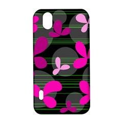 Magenta floral design LG Optimus P970
