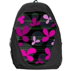 Magenta floral design Backpack Bag