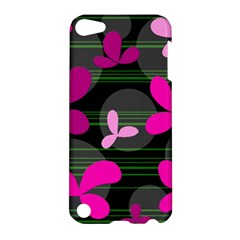 Magenta floral design Apple iPod Touch 5 Hardshell Case