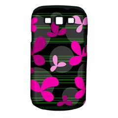 Magenta floral design Samsung Galaxy S III Classic Hardshell Case (PC+Silicone)
