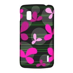 Magenta floral design LG Nexus 4