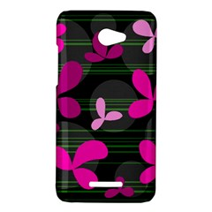 Magenta floral design HTC Butterfly X920E Hardshell Case