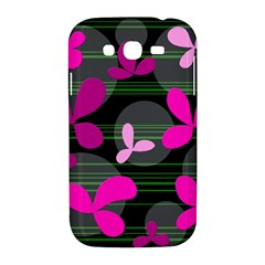 Magenta floral design Samsung Galaxy Grand DUOS I9082 Hardshell Case