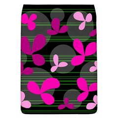 Magenta floral design Flap Covers (L)