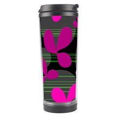 Magenta floral design Travel Tumbler