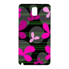 Magenta floral design Samsung Galaxy Note 3 N9005 Hardshell Back Case