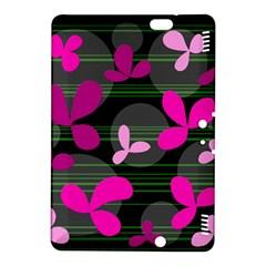 Magenta floral design Kindle Fire HDX 8.9  Hardshell Case