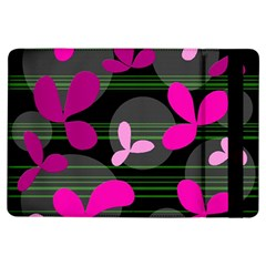 Magenta floral design iPad Air Flip