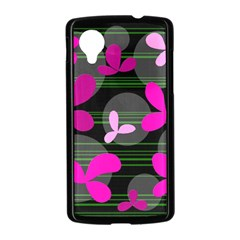 Magenta floral design Nexus 5 Case (Black)