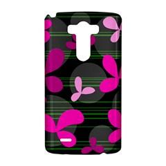 Magenta floral design LG G3 Hardshell Case