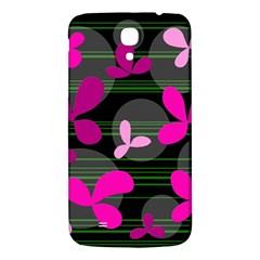 Magenta floral design Samsung Galaxy Mega I9200 Hardshell Back Case