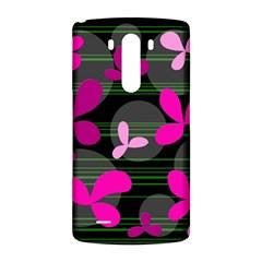 Magenta floral design LG G3 Back Case