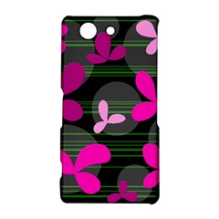 Magenta floral design Sony Xperia Z3 Compact