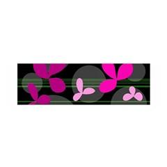 Magenta Floral Design Satin Scarf (oblong)