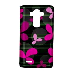 Magenta floral design LG G4 Hardshell Case