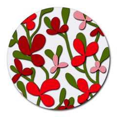 Floral tree Round Mousepads