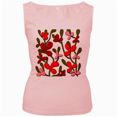 Floral tree Women s Pink Tank Top