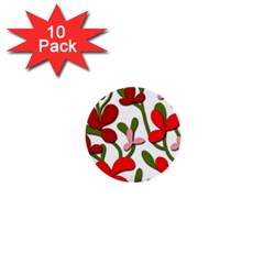 Floral tree 1  Mini Buttons (10 pack)