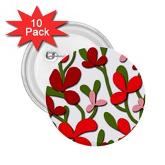 Floral tree 2.25  Buttons (10 pack)
