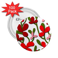 Floral tree 2.25  Buttons (100 pack)