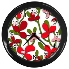 Floral tree Wall Clocks (Black)