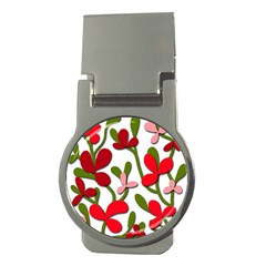 Floral tree Money Clips (Round)