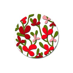 Floral tree Magnet 3  (Round)