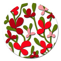 Floral tree Magnet 5  (Round)