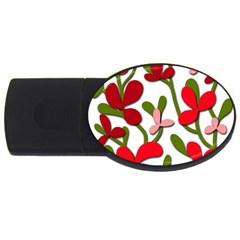Floral tree USB Flash Drive Oval (2 GB)